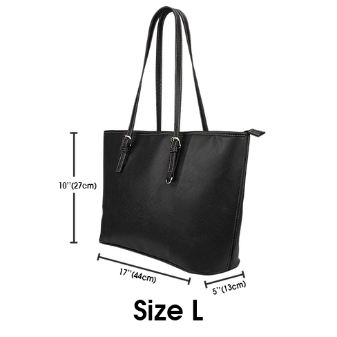 Customized Your Name Love Dog Leather Tote Bag 2